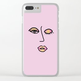 Rainbow Pink Vampy Vixen Clear iPhone Case