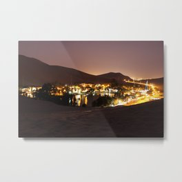 Huacachina - Oasis in Desert Metal Print