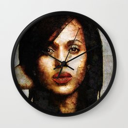 Portrait of Kerry Washington Wall Clock