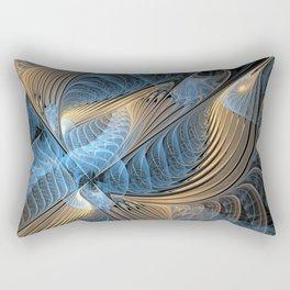 the fractal bird - blue Rectangular Pillow