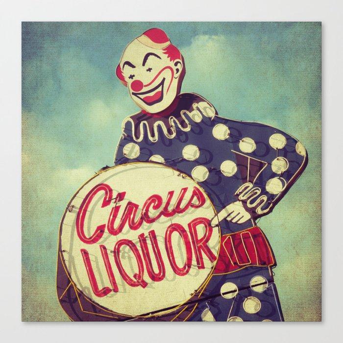 Circus Liquor, N. Hollywood, CA. Canvas Print