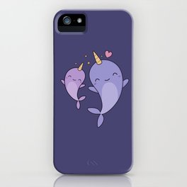 Cute and Kawaii Narwhals iPhone Case