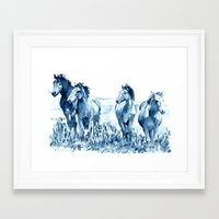 horses Framed Art Prints featuring horses by Michele Petri