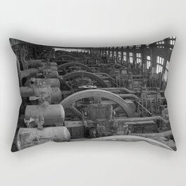 Bethlehem Steel, Blowing Engine House- black and white Rectangular Pillow
