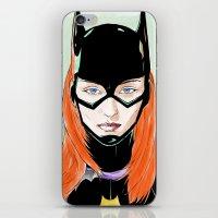 batgirl iPhone & iPod Skins featuring Batgirl by Matthew Bartlett