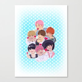 BTS - All the Hearts Canvas Print