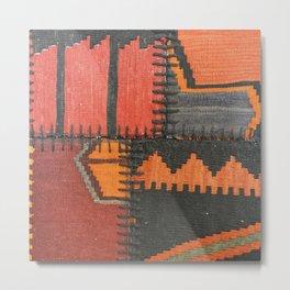 Caucasian Patchwork Metal Print