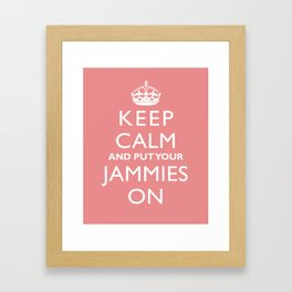 Kid's Wall Art Print - Keep Calm And Put Your Jammies On Framed Art Print