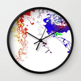 Rainbow Spurt 03 Wall Clock
