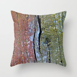 Colourful Wood Throw Pillow