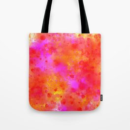 Watercolor Painting Bright Red & Summer Pink Abstract Paint Splashes Tote Bag