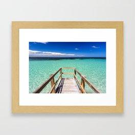 Summer Blues Framed Art Print