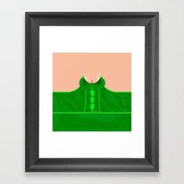 Lingeramas - Sexy Emerald Green Lingerie Top Framed Art Print