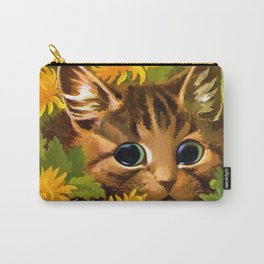"Louis Wain's Cats ""Tabby in the Marigolds"" Carry-All Pouch"