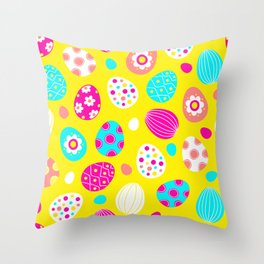 Easter Egg Party Pattern Throw Pillow