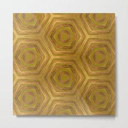 Golden - Cooper Geometric Abstract Metal Print