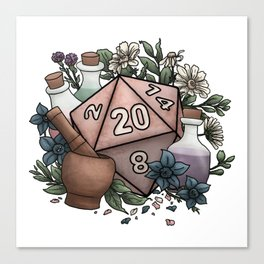 Alchemist D20 Tabletop RPG Gaming Dice Canvas Print