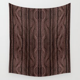 Brown braid jersey cloth texture abstract Wall Tapestry