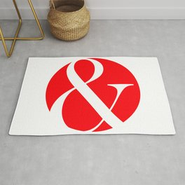 "Ampersand ""and"" logogram Rug"
