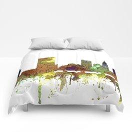 Columbus, Ohio Skyline SG - Safari Buff Comforters