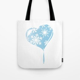 Melting Ice Heart Tote Bag