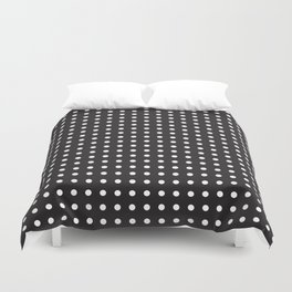 Process Black and White Polka Dot Duvet Cover