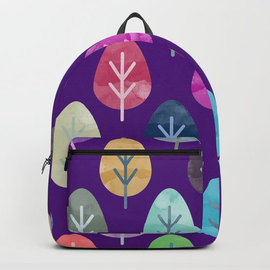 Watercolor Forest Pattern II Backpack