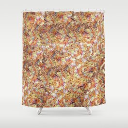 Modern orange faux gold glitter abstract pattern Shower Curtain