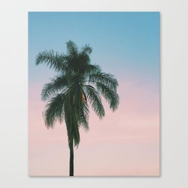 Pastel Sky Palm Tree - Los Angeles, California Canvas Print