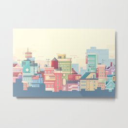 Little Apartments in a Big City Metal Print