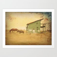 VINTAGE CABO POLONIO HOUSE Art Print