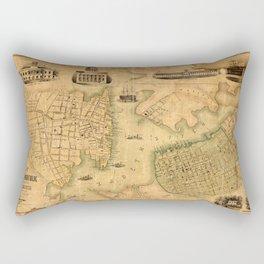 Map Of Norfolk 1851 Rectangular Pillow