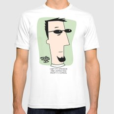 Pre-approved Opinions Mens Fitted Tee White MEDIUM