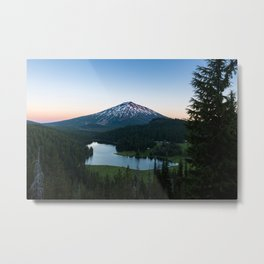 Mount Bachelor Sunset at Todd Lake Metal Print