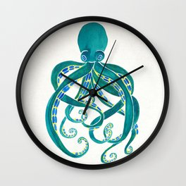 Octopus Watercolor Wall Clock