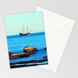 Spanish Galeon by the Rocks Stationery Cards