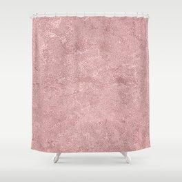 Textured Blush Foil Shower Curtain