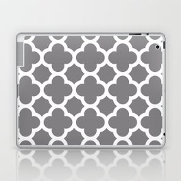 Gray Quatrefoil Laptop & iPad Skin