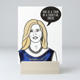 Thug in a cocktail dress Mini Art Print