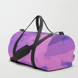 geometric circle and square pattern abstract in pink purple Duffle Bag