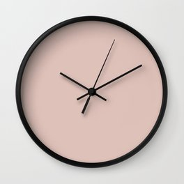 Dunn and Edwards 2019 Curated Colors Travelling Tan (Pale Pastel Pink) DE6080 Solid Color Wall Clock