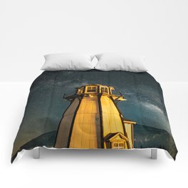 Mountain Light House Two Comforters