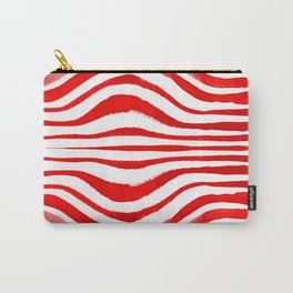 Rippled Red Carry-All Pouch
