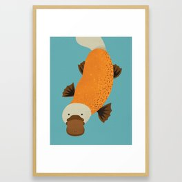 Whimsy Platypus Framed Art Print