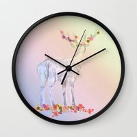 poetry Wall Clocks featuring Poetry pic by Laake-Photos