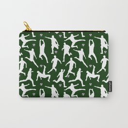 Soccer Players // Dark Green Carry-All Pouch