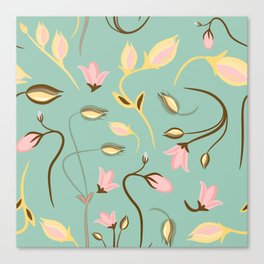 seamless summer tiny floral pattern Canvas Print