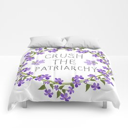 crush the patriarchy Comforters