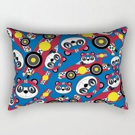 Panda Racing Car Driver Rectangular Pillow