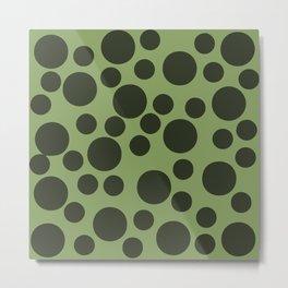 Army Green Dots Metal Print